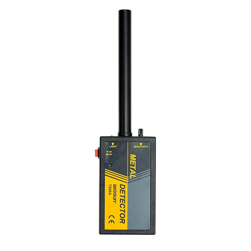 ALLOSUN Handheld TS66A Waterproof Wand Pin Pointer Metal Detector, Grey
