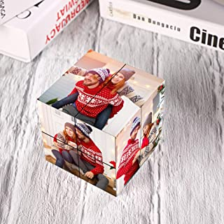 SOUFEEL Photo Cubes for Pictures Photo Frame Rubik's Cube Multi Picture Frame Photo Block - Personalized Photo Puzzle Cust...