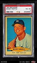 1954 Red Heart Mickey Mantle New York Yankees (Baseball Card) PSA 4 - VG/EX Yankees