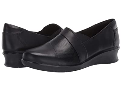Clarks Hope Piper (Black Leather) Women