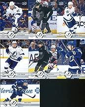 2019-20 Upper Deck Series 1 Hockey Tampa Bay Lightning Team Set of 7 Cards: Anthony Cirelli(#21), Nikita Kucherov(#22), Yanni Gourde(#23), Tyler Johnson(#24), Ondrej Palat(#25), Alex Killorn(#26), Victor Hedman(#27)
