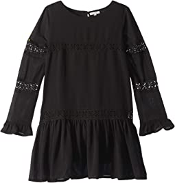 Crinkle Chiffon Lace Dress (Big Kids)