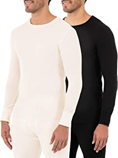 Fruit of the Loom Mens 14767-2P Classic Midweight Waffle Thermal Top (2 Pack) Thermal Underwear Set