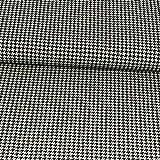 Baumwolljersey Hahnentritt taupe Modestoffe - Preis gilt