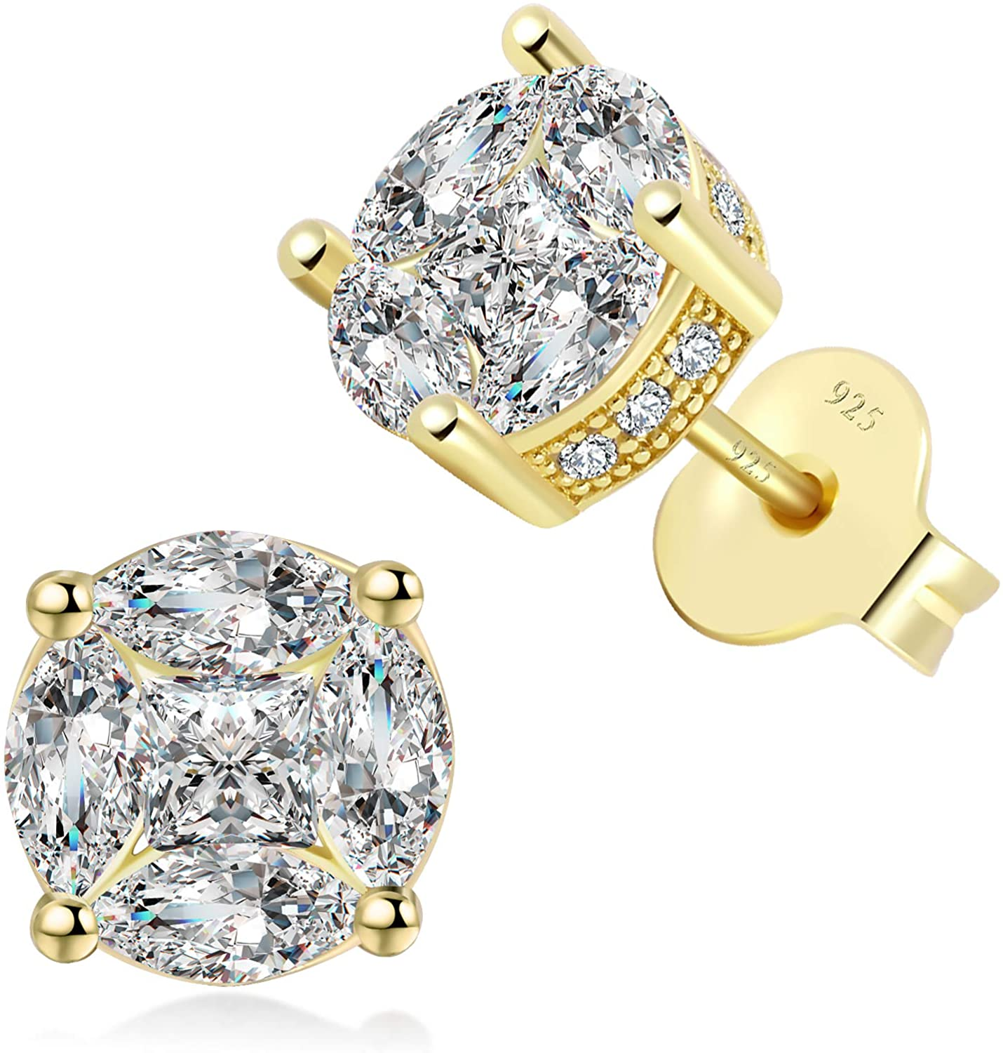 Earrings Alternative dealer Hypoallergenic 925 Sterling P Gold Silver New products, world's highest quality popular! Stud