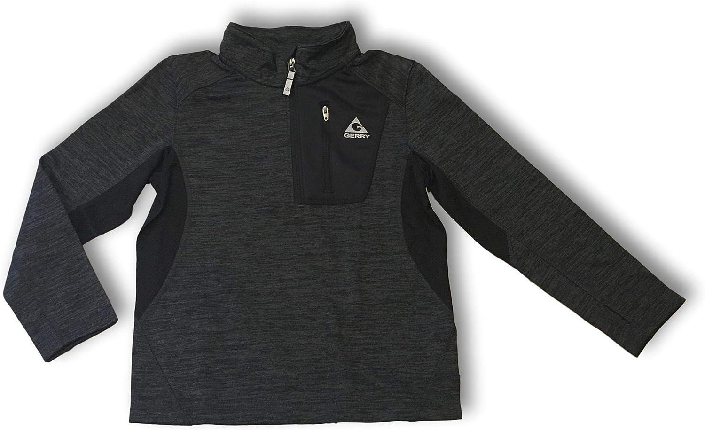 *Gerry Kids Youth Boys Quarter Zip Lightweight Fleece Lined XS 5//6 Black
