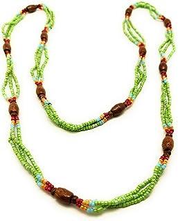 DCA Multicolor Glass/Wood Women Necklace