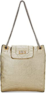 CHANEL Gold Perforated Leather Tote (Pre-Owned)