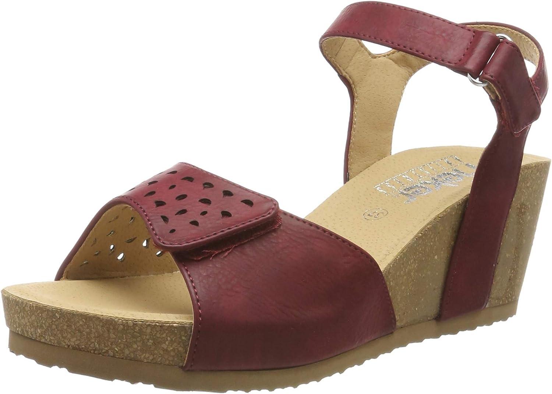 Rieker Womens-Sandalette - F Rot (4)