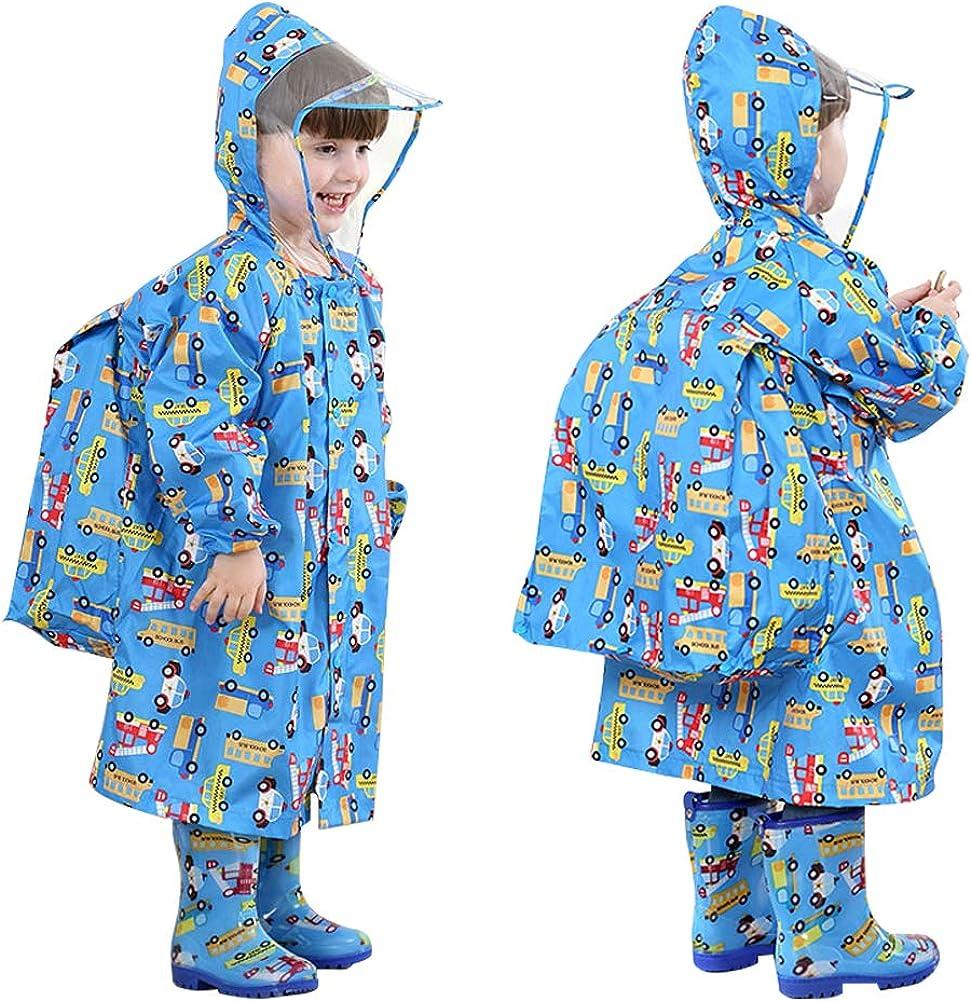 Kids Rain Wear 3D Children Raincoat Jacket Poncho Waterproof Rainsuit Rain Coat
