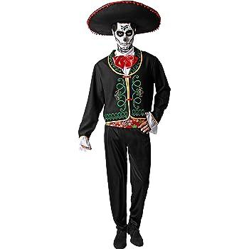 NET TOYS Disfraz Día de los Muertos Traje Hombre Fiesta de los ...
