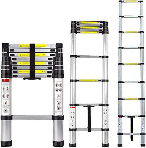 discount Folding Ladder new arrival Aluminum Telescopic Extension Ladders EN131 Standard with Spring Loaded Locking outlet sale Mechanism(2.6M/8.5Ft) sale