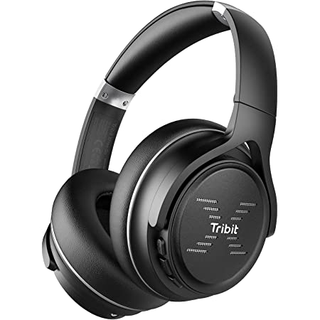 Tribit XFree Go Bluetooth Headphones, Wireless Headphones Over Ear with Bluetooth 5.0, HiFi Sound with Deep Bass, USB Lightening Fast Charge, 24H Playtime, CVC8.0 Noise Cancelling Mics, Black