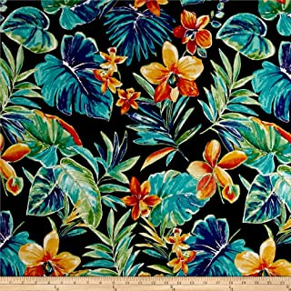 Richloom Fabrics 0568360 Richloom Solarium Outdoor Beachcrest Caviar Fabric by the Yard