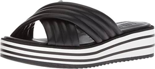 Nine West Wohommes ZONITA Slide Sandal, noir, noir, noir, 9.5 M US 620