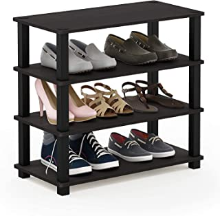 STAR WORK Shoe Rack and Shoes Stand for Home 4 Tier Standing Shelf (Height 56.4 Cm, Length 59.5 Cm, Width 29.5 Cm)