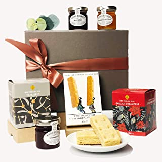 Luxury Tea Time Gift Hamper Box | The Perfect Gifts for Women or Men! Tea, Preserves & Shortbread Biscuits!