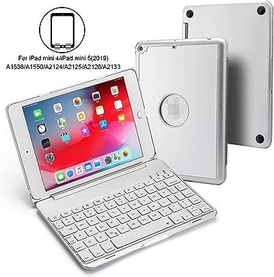 BECROWM EU Schutzh lle f r iPad Mini Mini 5 130 Grad drehbar hintergrundbeleuchtet Farben kabellose Tastatur kompatibel mit Apple iPad 7 9 Zoll Schätzpreis : 46,99 €