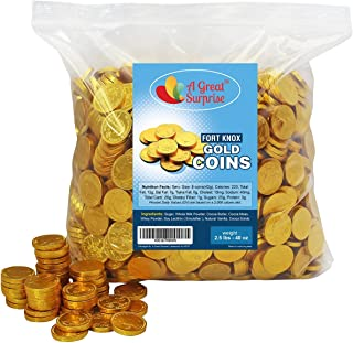 Chocolate Gold Coins - Fort Knox Chocolate Coins - Gold Candy - Christmas Candy - Milk Chocolate 2.5 LB Bulk Candy