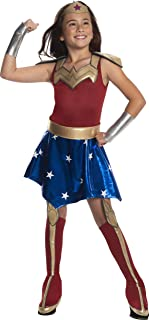 DC Super Hero Girl's Deluxe Wonder Woman Costume Dress, Medium
