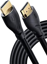 PowerBear 4K HDMI Cable 25 ft | High Speed, Rubber & Gold Connectors, 4K @ 60Hz, Ultra HD, 2K, 1080P, & ARC Compatible for...