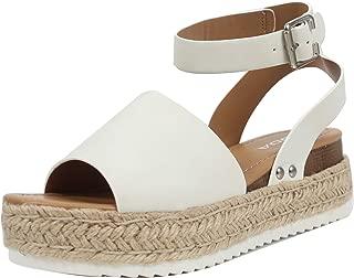 SODA Women's Open Toe Halter Ankle Strap Espadrille Sandal