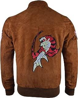 Ryo Hazuki Shenmue Game Brown Bomber Suede Leather Jacket, XXS-3XL