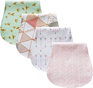 """Baby Burp Cloths 4 pack Large Gender Neutral  Baby Shower Set for Boys /& Girls /"""" Love Set/"""" By Chunky Chops 100/% Organic Cotton Ultra Absorbent /& Soft   Burping Rag for Newborn Triple Layer"""