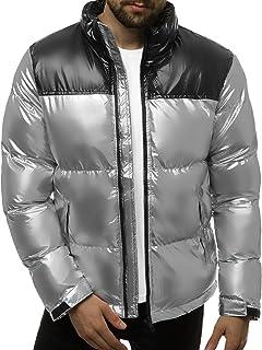 OZONEE Heren winterjas jas winter kleurvarianten warm bomberjack gewatteerde winterjas kunstbont donsjas lichte outdoor bu...