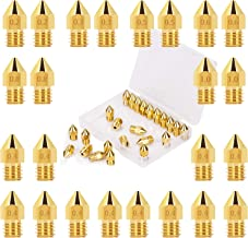 LUTER 24PCS Extruder Nozzles 3D Printer Nozzles for MK8 0.2mm, 0.3mm, 0.4mm, 0.5mm, 0.6mm, 0.8mm, 1.0mm with Free Storage ...