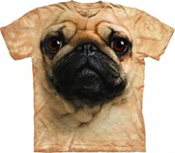 Tuff America Pug FACE Cotton Dogs T-Shirt Youth Short Sleeve T-Shirt