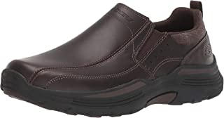Skechers Men's Expended Leather Slip on Moccasin