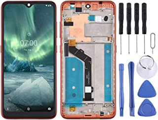 Lin LCD Screen and Digitizer Full Assembly with Frame for Nokia 6.2 TA-1198 TA-1200 TA-1187 TA-1201(Black) GXX (Color : Or...