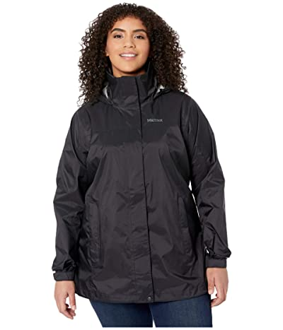 Marmot Plus Size PreCip(r) Eco Jacket (Black) Women