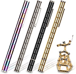 Toy Pen, Decompression Magnetic Metal Pen, Multifunction Writing Magnet Ballpoint Pen, Gift for Kids or Friends (Gold)
