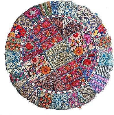 Amazon.com: Janki Creation Indian Cushion Cover Throw ...