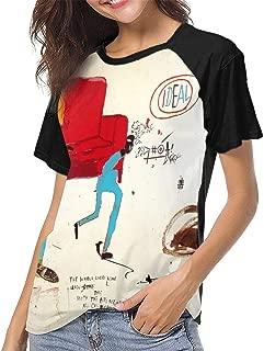 Jean Michel Basquiat Light Blue Movers Women Classic Fashion Print T-Shirt