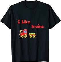 I Like Trains Boys Girls Kids T-shirt