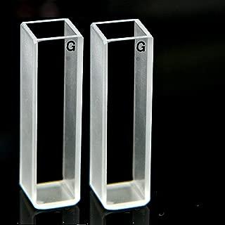 Set of 2 Optical Glass Cuvettes, 1cm 10mm, Spectrometer Cell Cuvette