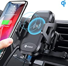 VICSEED Wireless Car Charger Mount Fast Charging Qi Wireless Car Charger 7.5W 10W Qi Car Charger Air Vent Phone Holder for Car Mount Fit for iPhone SE 11 Pro Max X XS XR Samsung S20 Note10 S10 LG etc.