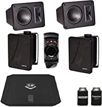$319 » Kicker KB6000 Black Outdoor Speakers (2 Pairs) with Dub 480 Watt Amplifier & MB Quart N2-WBT Bluetooth Receiver