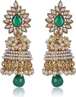 Shining Diva Bollywood Inspired Traditional Pearl Jhumka/Jhumki Earrings For Girls and Women