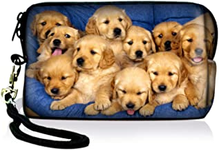 AUPET Cute Dogs Design Digital Camera Case Bag Pouch Coin Purse with Strap for Sony Samsung Nikon Canon Kodak