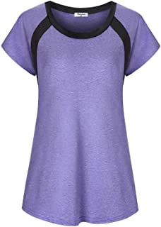 Bobolink Women's Short/Long Sleeve Yoga Tops Dri Fit Workout Running Shirts