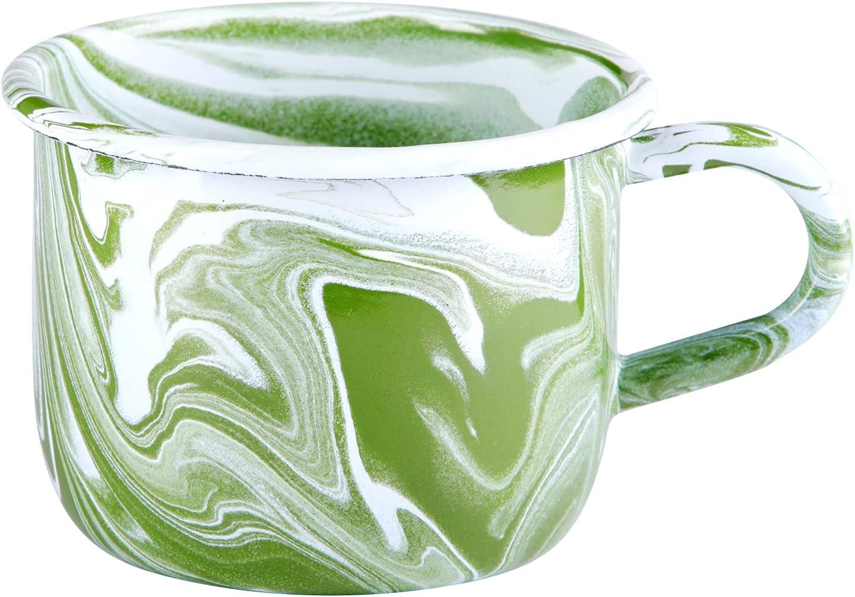 Enamelware 14 oz. Green Marbled Max 46% OFF Ranking TOP3 of Mug 4 Set