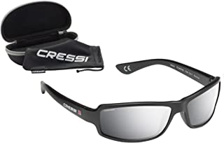 Cressi 科越思 中性 NINJA FLOATING 太阳镜 可漂浮水面 防碎防UV偏振光 DB100003 黑色/镜化处理镜片