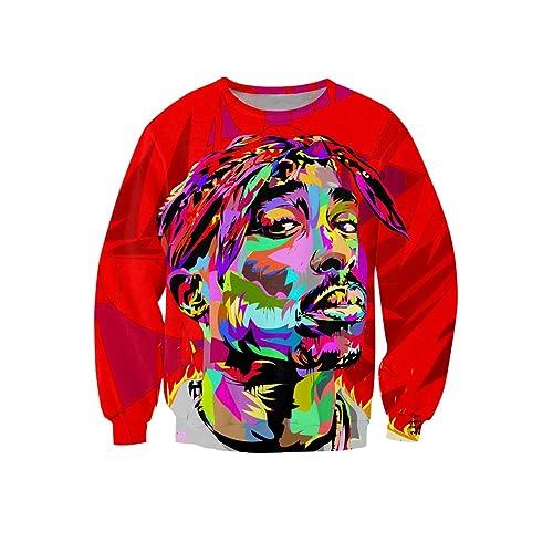 873bc04bed9 Cutiefox Digital Print Crew Neck Pullover Sweater Sweatshirts