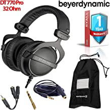 Beyerdynamic DT 770 Pro 32 Ohm Closed-Back Studio Recording Headphones -Includes- Soft Case, Splitter, and 1-Year Extended Warranty