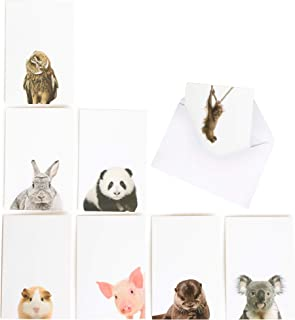 Cute Animal Note Cards - Set of 24 Blank Cards With Envelopes, All Occasion Greeting Cards, Stationary Set, Thank You Cards - 3 of each Fun Notecard Included