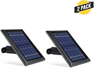 Wasserstein Solar Panel Compatible with Ring Spotlight Cam Battery & Ring Stick Up Cam Battery (2 Pack, Black)